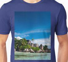 a colourful Seychelles landscape Unisex T-Shirt