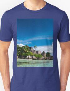 a colourful Seychelles landscape T-Shirt