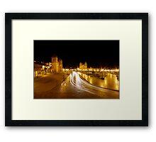 Night Lights - Cusco - Peru Framed Print