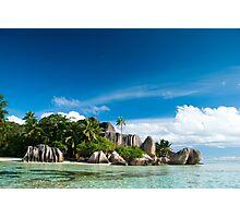 a colourful Seychelles landscape Photographic Print