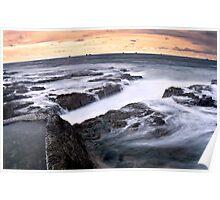 Coastal Curves - Newcastle Beach - Australia Poster