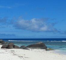 an incredible Seychelles landscape Sticker
