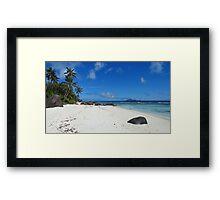 an incredible Seychelles landscape Framed Print