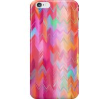 Colorful painted chevron pattern iPhone Case/Skin