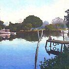 Wetting a Line at Wynnum Creek by Cary McAulay