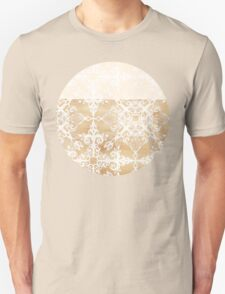 White Doodle Pattern on Sepia Ink T-Shirt