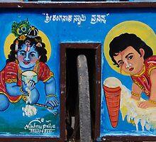 Ice cream Krishna by Syd Winer