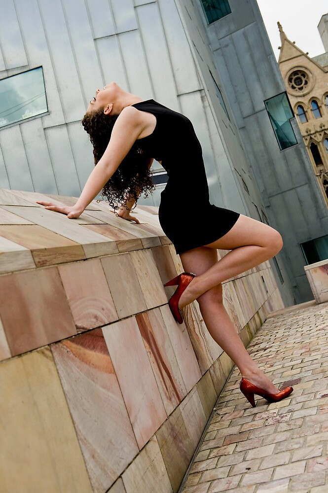 Long long legs attached to bright heels #2 by Mark Elshout
