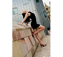 Long long legs attached to bright heels #2 Photographic Print