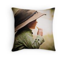 ...her daddy's hat... Throw Pillow