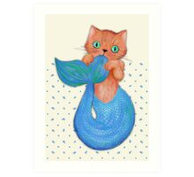 Merkitten Life Lesson #14 - You are NOT your food Art Print