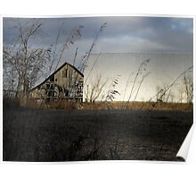 Late Fall Farm Scene- Hartford City Poster