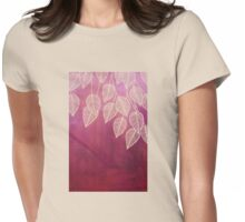 Magenta Garden - watercolor & ink leaves Womens Fitted T-Shirt