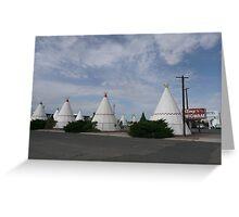Wigwam Motel on Route 66, Holbrook, USA. Greeting Card