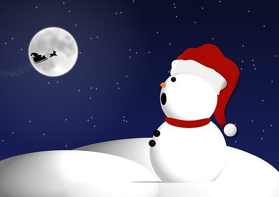 Snowman and Santa by Sherrianne Talon