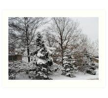 Awe Yes Glorious Snow Art Print