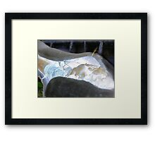 cable rupture Framed Print