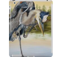 Great Blue Heron On The Jordan River iPad Case/Skin