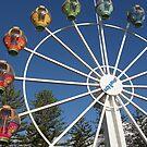 Ferris Wheel By The Beach by judygal
