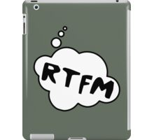 RTFM by Bubble-Tees.com iPad Case/Skin