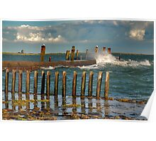 High tide and windy......... Poster
