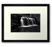 Waterfall at Rice Dam Framed Print