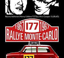 Mini Cooper Rallye Monte Carlo 1967 by car2oonz