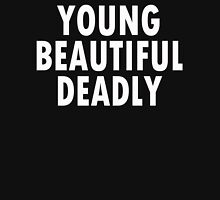YOUNG BEAUTIFUL DEADLY 2 Womens Fitted T-Shirt