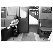 Subway BW Poster