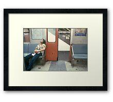 NY Subway Framed Print