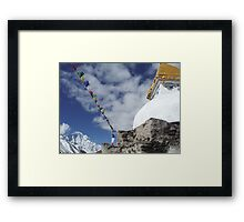 Stupas in the Himalayas Framed Print