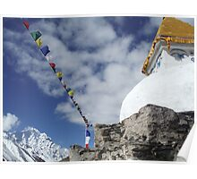 Stupas in the Himalayas Poster