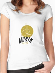 Music Lives Women's Fitted Scoop T-Shirt