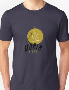Music Lives Unisex T-Shirt