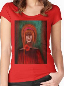 A Redhead Portrait Women's Fitted Scoop T-Shirt