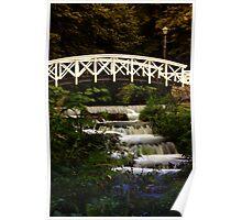 Bridge over waterfall Poster