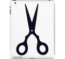 Black Scissors iPad Case/Skin