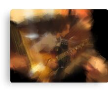 chris playing the guitar Canvas Print