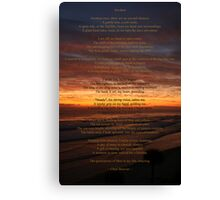 Poem entry Canvas Print