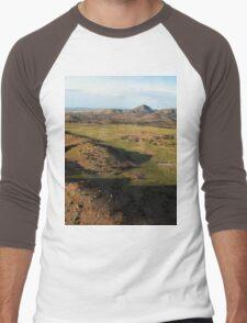 a desolate Mexico landscape Men's Baseball ¾ T-Shirt