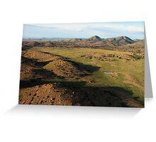 a desolate Mexico landscape Greeting Card