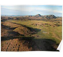 a desolate Mexico landscape Poster