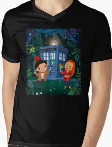 THE DOCTOR IN WHONDERLAND Mens V-Neck T-Shirt