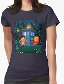 THE DOCTOR IN WHONDERLAND Womens Fitted T-Shirt