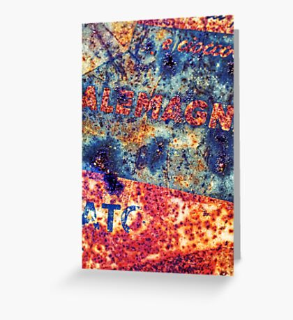 Alemagna - Rusted Abstract Greeting Card