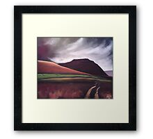 'Ingleborough - the brooding mountain' Framed Print