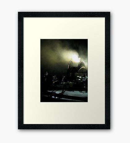 U2 on stage at Wembley Framed Print