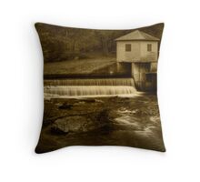 Overflow at Rice Dam Throw Pillow