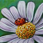 Ladybug on Flower by Gayle Utter