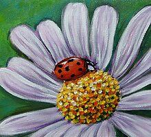 Ladybug on Flower by Gayle Utter
